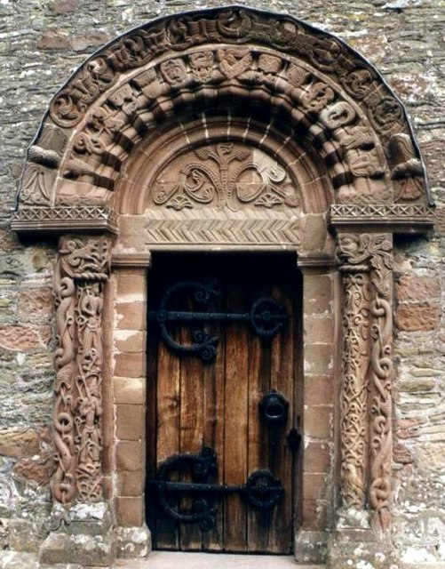 Carved doorway of Kilpeck Church