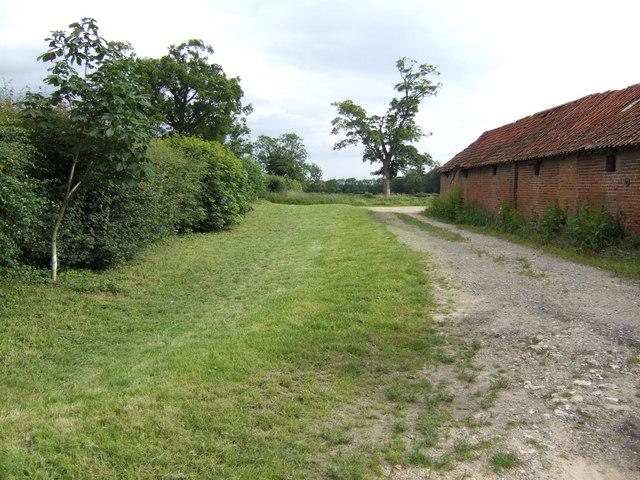 Old barns at Wolferton House, Sporle
