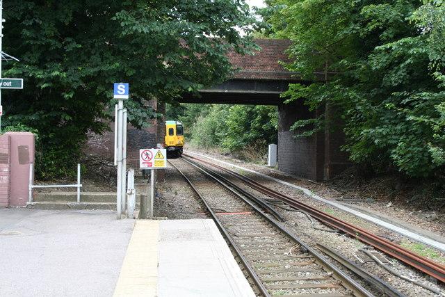Leaving Belmont Station, Surrey