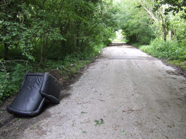 Lay-by off the A47; fly-tip