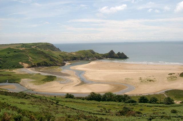 Three Cliff Bay, Swansea
