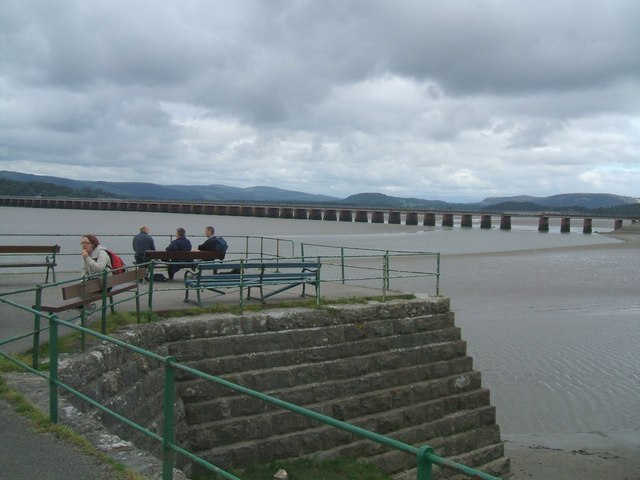 Viaduct viewed from the pier at  Arnside