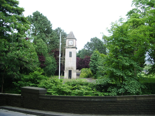 Clock tower in Memorial Grounds