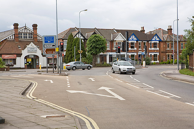 Junction of Romsey Road and Leigh Road