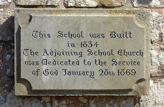 Pen-twyn - plaque on former school