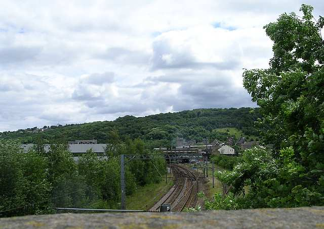Railway Line from Lawkholme Lane looking towards Keighley