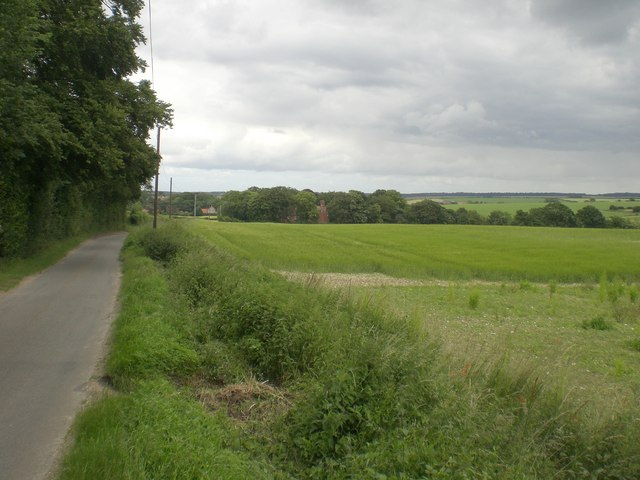 View down Chalk Hill towards Burnham Market