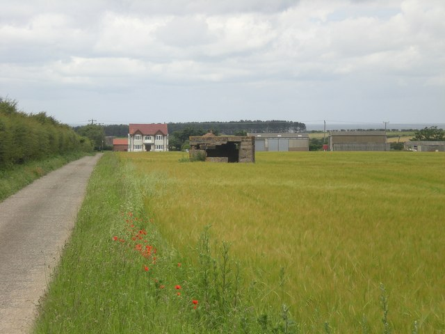 Westgate Farm and pill box