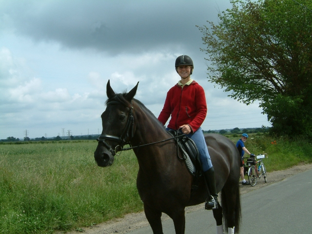 Girl on horse - posed!