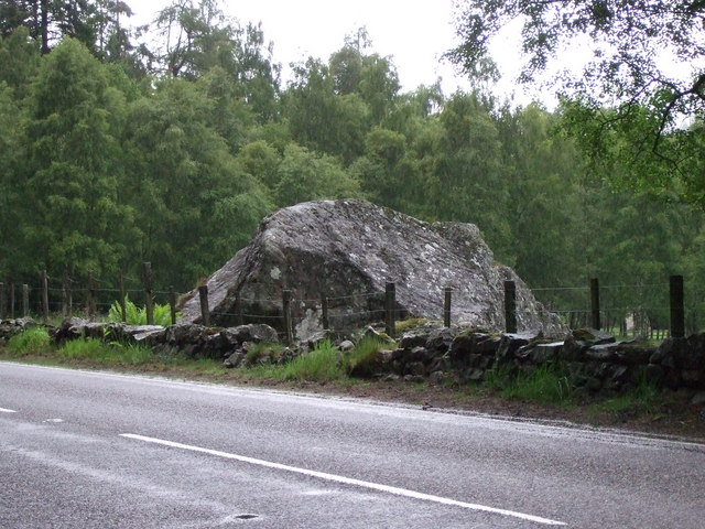 A big stone block by the A93