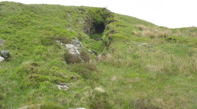 Old ironstone mine level Tyllau Mwn North