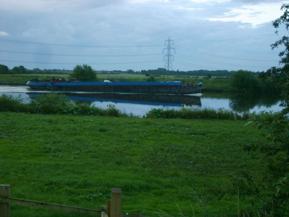 Barge on River Trent