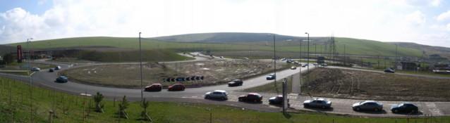 Dowlais Top Roundabout  Construction