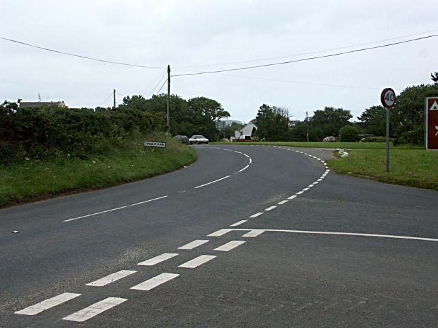 Road junction near Trewithian
