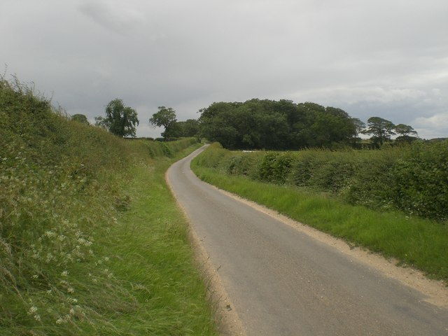 West along lane near Sussex Farm
