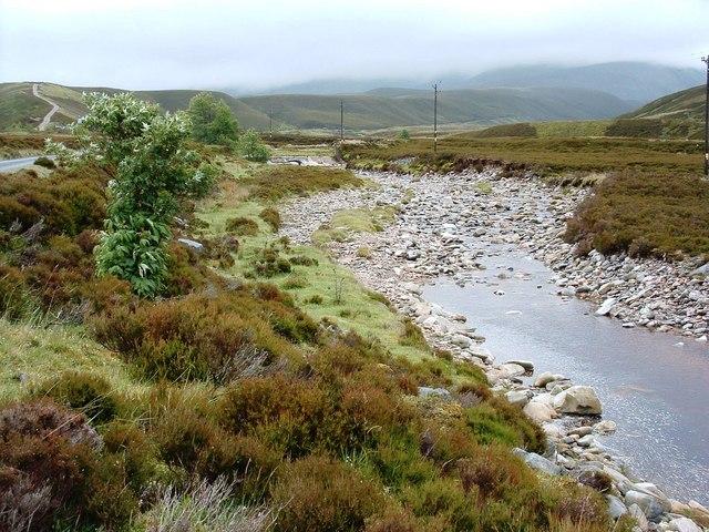 Weir on the Allt Bhran
