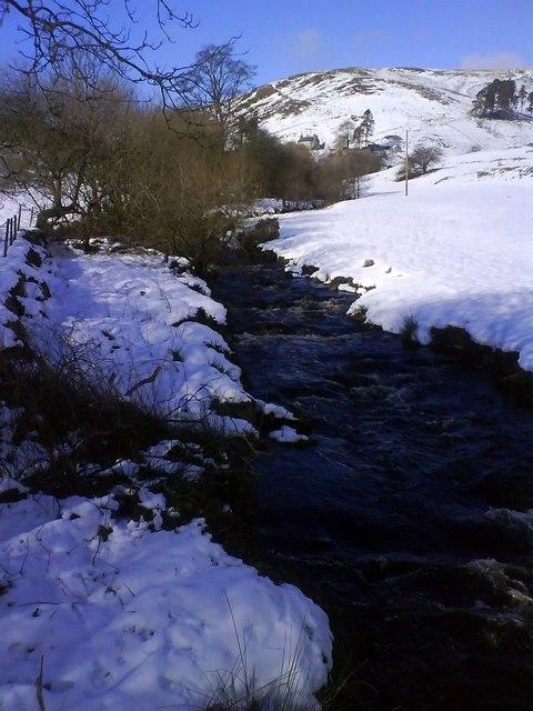 Afon Ceiriog in winter
