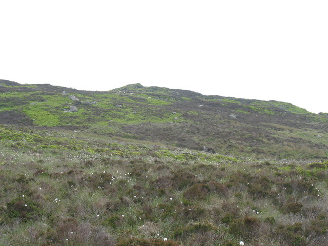 The Gadfa ridge across a wild bog