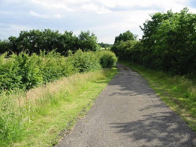 Private road leading to caravan park, Bullockstone