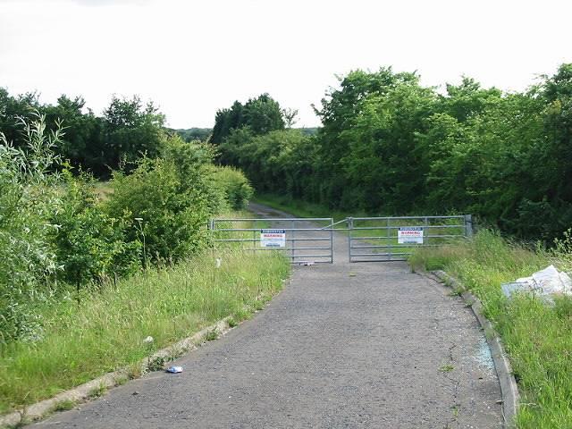 Gated private road near Bullockstone