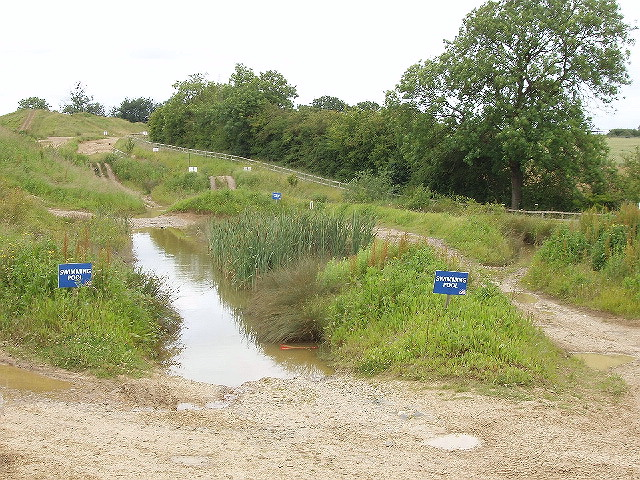 """Swimming pool"" on 4x4 course, Silverstone"