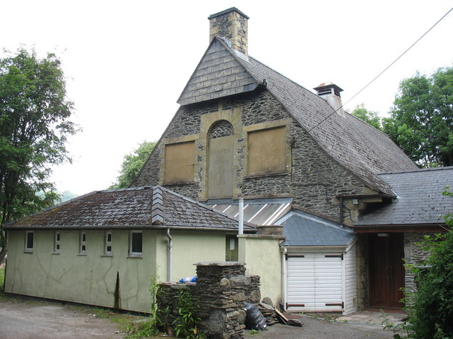 The gable end of the Owain Glyndwr Memorial Hall