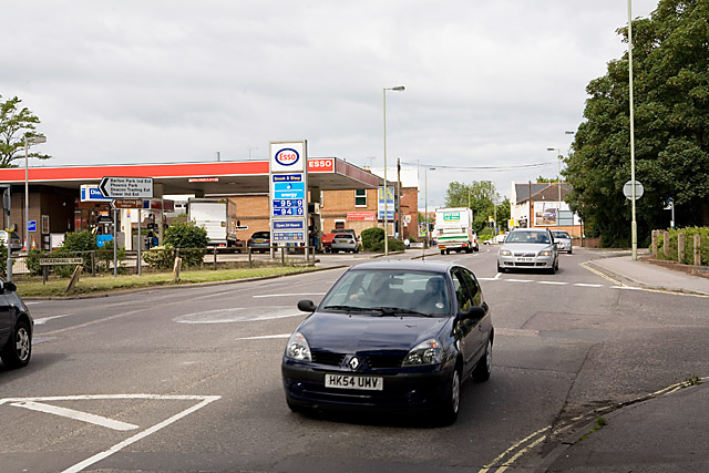 Mini-roundabout on Bishopstoke Road