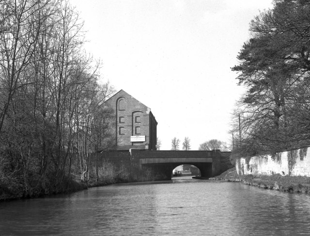 Bridge 51 and Blisworth Mill, Grand Union Canal