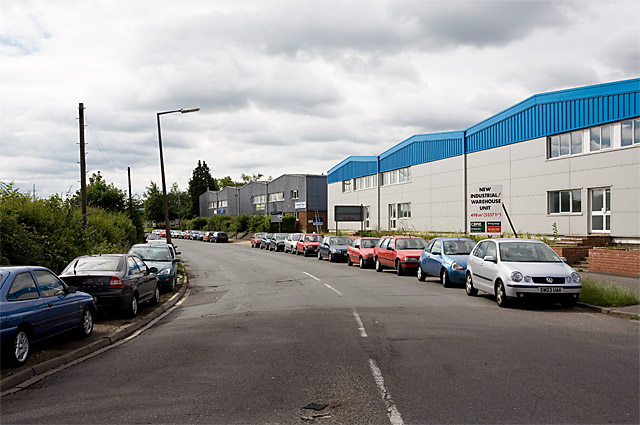 Chickenhall Lane with Barton Farm industrial estate on right