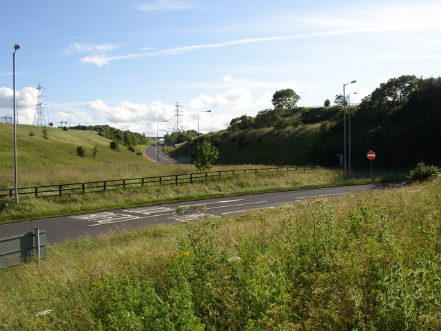 Motorway slip road off the Blackley New Road roundabout, Elland