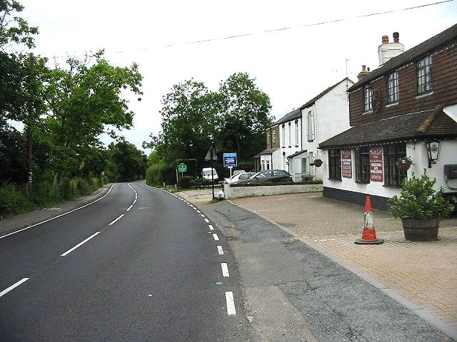Looking NE along the A291 Canterbury Road