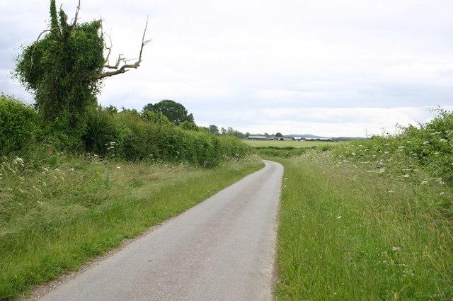 Minor road heading down to Penton Grafton