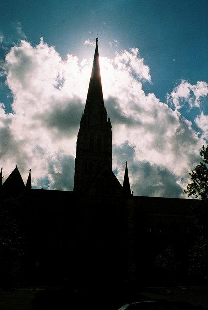 Salisbury: spire in silhouette