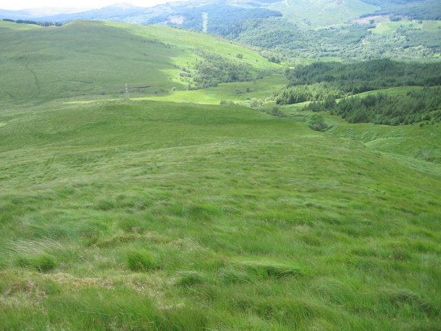 Lower slopes of Stuc Scardan