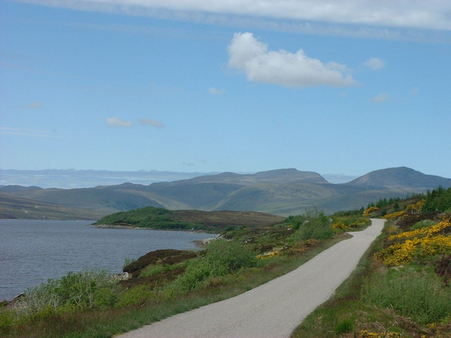 The road by the northern part of Loch Shin