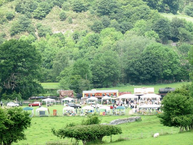 Stalls at Glyndyfrdwy Carnival