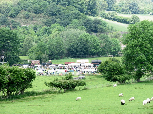 Sheep, stalls and Llangollen Railway rolling stock