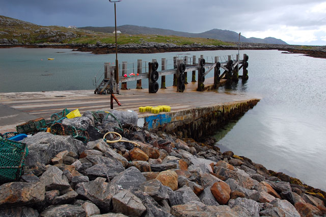 Looking down the jetty