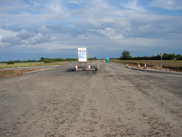 Burgh le Marsh by-pass looking east towards Skegness.