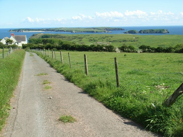 View of Caldey Island from Strawberry Lane