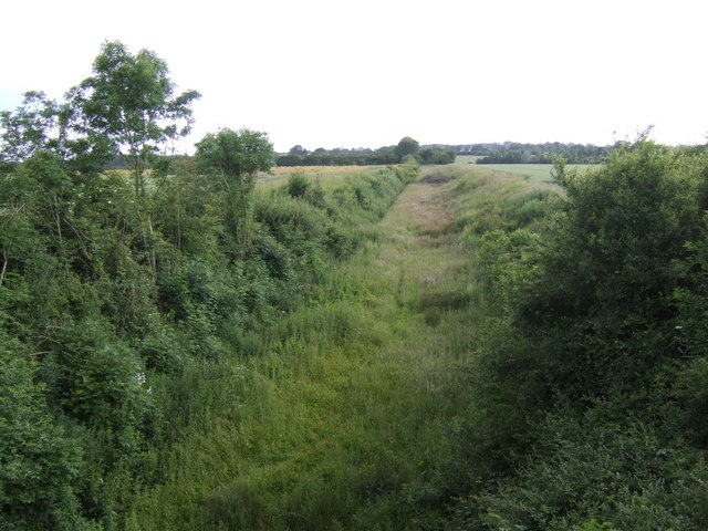 Course of the dismantled Swaffham line.