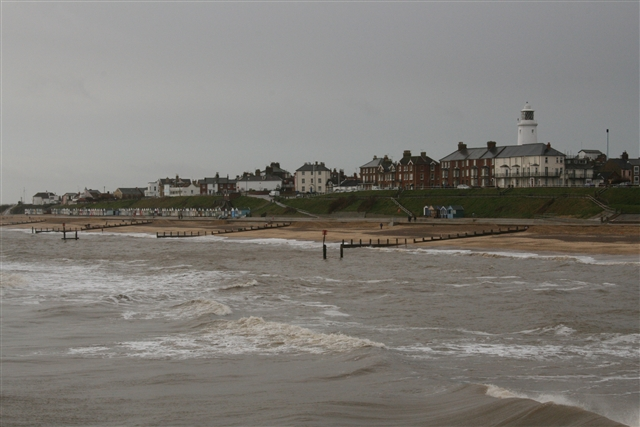 Southwold seafront from the pier