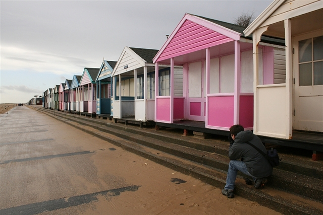 In the pink - Southwold beach hut