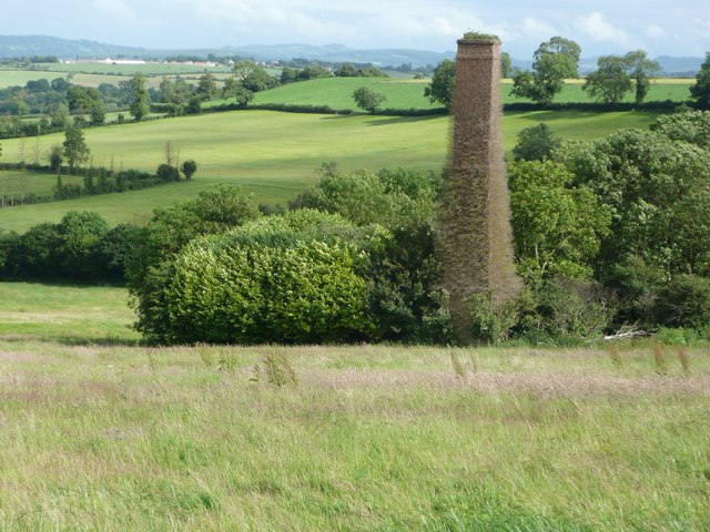 Old mine chimney with Barrow Hill in the background