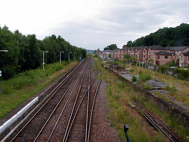 Looking south from Dingwall station