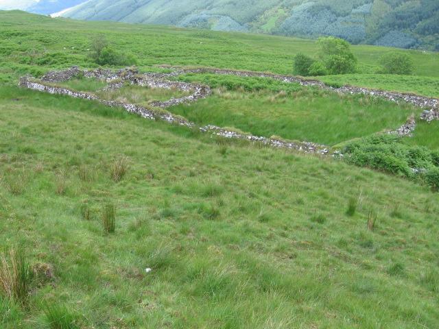 Sheepfold on Glen Shira hillside