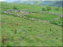 NN1113 : Sheepfold on Glen Shira hillside by Chris Wimbush