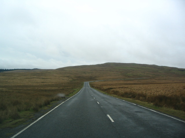 Unfenced Mountain Road On The Brecon Beacons