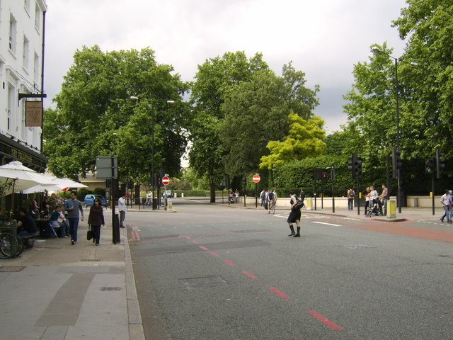 Baker Street, looking north to Regent's Park