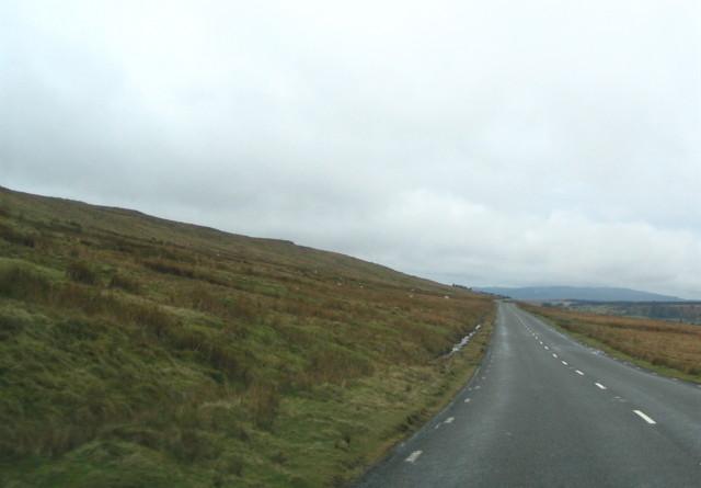 A4059 below Cadair Fawr